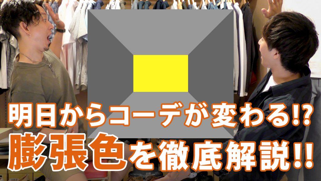 【YouTube】明日からのコーディネートが変わる!?知られざる膨張色の効果とは!?