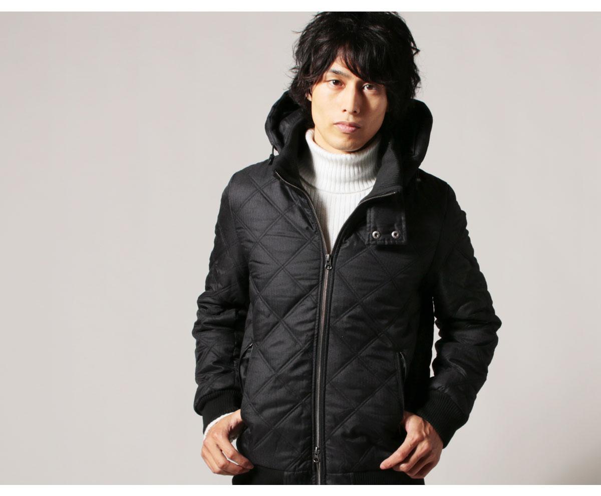 メンズ キルティングジャケット